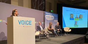 Moss at CES on VOICE panel